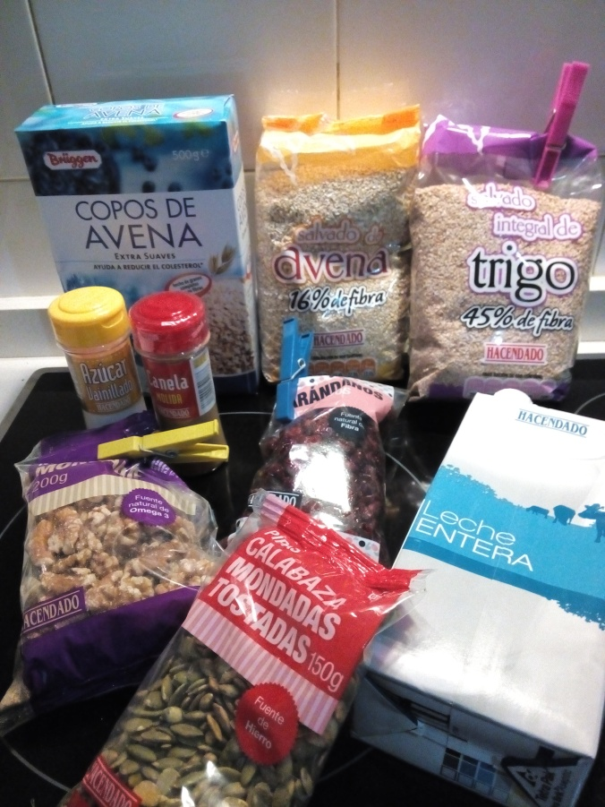 ingredientes papilla cereales