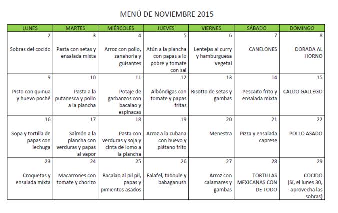 menú noviembre 2015