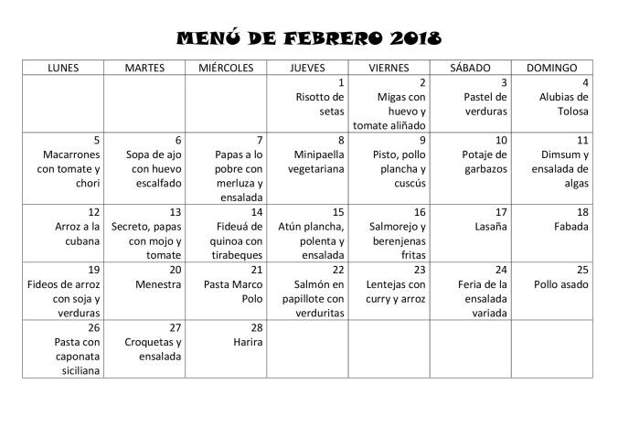 MENÚ FEBRERO 18-001