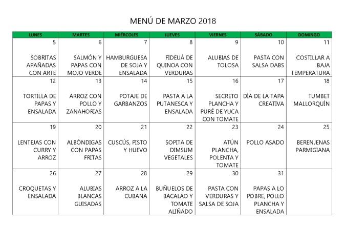 MENÚ DE MARZO 2018-001